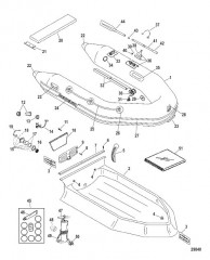 Схема Надувные лодки Dynamic из ПВХ – 260/280/310 (Quicksilver 2006/08)