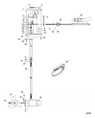 Двигатель для тралового лова в сборе (Модель FW60FB) (24 В)