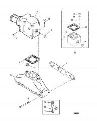 Схема Выхлопной коллектор и выхлопной коленчатый патрубок (2-комп.)