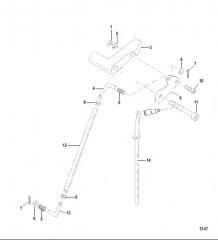Схема Тяга водометного механизма