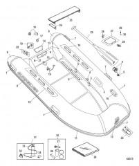 Схема Quicksilver OceanRunner (хайпалон) – модель 410 (2010 / 2011)
