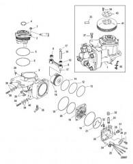 Схема Компоненты воздушного компрессора С/н 1B884476 и ниже
