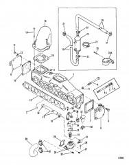 Выхлопной коллектор и водяная система (С колпачками) 3.0L  Только