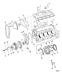 Схема ВПУСКНОЙ КОЛЛЕКТОР И ПЕРЕДНЯЯ КРЫШКА (230)