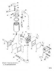 Схема Электродвигатель усилителя дифферента (Съемный корпус насоса)