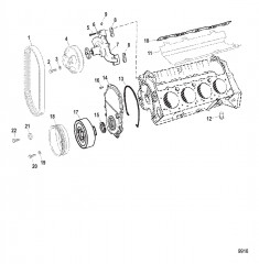 Схема Циркуляционный водяной насос и передняя крышка