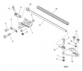 Комплект тяги Троллинговый двигатель (правый борт)