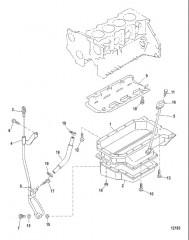 Схема Маслосборник и указатель уровня