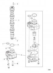 Схема Распределительный вал/масляный насос