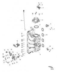 Схема Компоненты встроенного блока воздуха/топлива