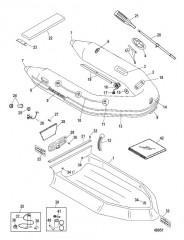 Схема Надувные лодки Dynamic из ПВХ – 260/280/310 (Quicksilver 2010/11)