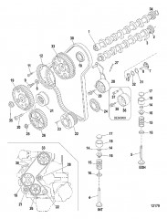 Схема Распределительный вал и клапаны