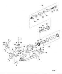 Компоненты универсального шарнира и механизма переключения (Привод XR/XZ)