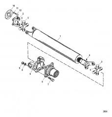 Схема Ведущий вал и натяжное устройство (Карданная передача)