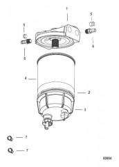 Схема Комплект топливного фильтра водоотделителя Без датчика WIF – SeaPro