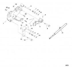 Кронштейн переключения передач (Исп. с крышкой коромысла из штампованной стали)