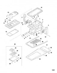 Схема Корпус водометного привода (Серийный номер от 0E345000 до 0E369299)