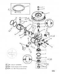 Коленчатый вал (6/8)(9.9-USA-0G112449/BEL-9831799 и ниже)