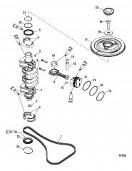 Схема Коленчатый вал, поршни и шатуны