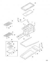 Схема Компоненты корпуса водометного привода