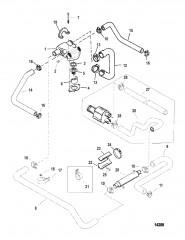 Схема Стандартная система охлаждения (Топливная система VST)