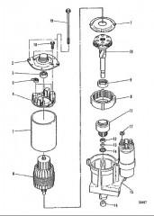 Схема СТАРТЕР (8 – 3-1/4 ДИАМ. КОЛПАЧКА)(PG 200)