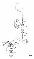 Схема Топливный насос и топливный фильтр (Топливная система VST)