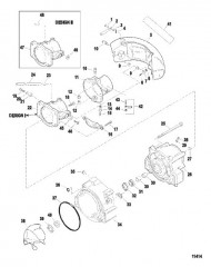 Схема Форсунка и руль (Серийный номер от 0E345000 до 0E369299)
