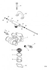 Схема Thermostat and Housing 7 Point Drain