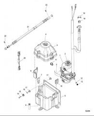 Комплект насоса – рулевой механизм с усилителем (4–24фута – 1,22–7,32м) Предохранитель 50А