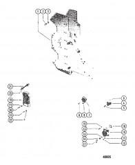 Схема РАСПРЕДЕЛИТЕЛЬНАЯ КОРОБКА И ЭЛЕКТРОМАГНИТ СТАРТЕРА