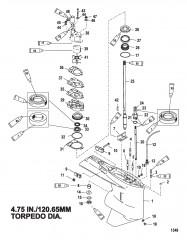 Схема Картер редуктора (Ведущий вал)(стандартное вращение/противовращение)