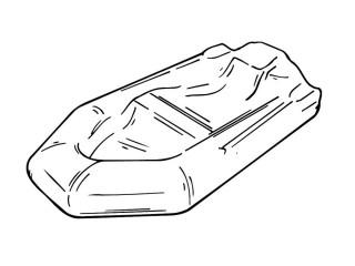 ЧЕХОЛ ДЛЯ ЛОДКИ С сумкой (Д 3.5 м x Ш 2.5 м), серый