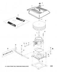 Схема Корпус дроссельной заслонки и пламегаситель