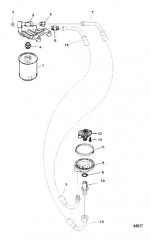 Схема OIL FILTER AND ADAPTOR