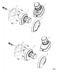 Джойстик в сборе Одинарный и сдвоенный двигатели