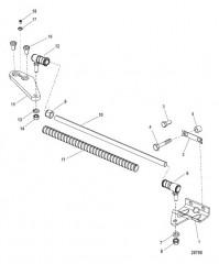 Комплект тяги Троллинговый двигатель (левый борт)