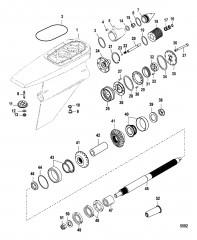 Схема Картер редуктора Сухой поддон Six/NXT6 SSM – Гребной вал