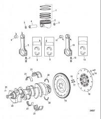 Компоненты двигателя (Коленчатый вал / поршни / шатуны)