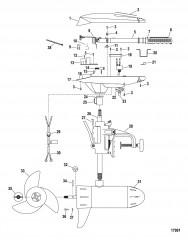 Двигатель для тралового лова в сборе (Модель FW54HTV / FW54HTD) (12 В)