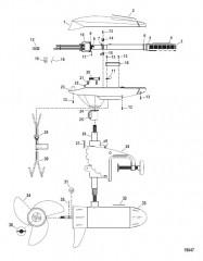Двигатель для тралового лова в сборе (Модель BD1250) (12 В)