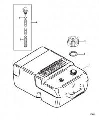 Схема Топливный бак в сборе (6.6 галл.) (Серия 859062)