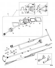Комплект системы управления дифферентом Active Trim Одинарный двигатель – 40/50/60 EFI четырехтактн.