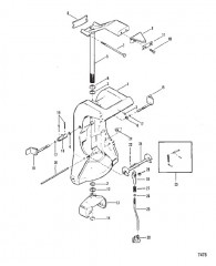 Шарнирный кронштейн и блокировка реверса (Без усилителя дифферента)