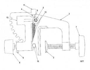 03 транец (черный) (Без устройства для быстрого закрепления) (MCK300042)