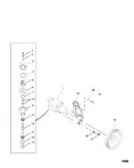 Насос для забортной воды в сборе (Исп. с двигателями Bravo)