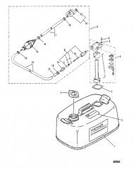 Схема ТОПЛИВНЫЙ БАК (M-019156/ML-318600/E-104326/EL-409501 и выше)