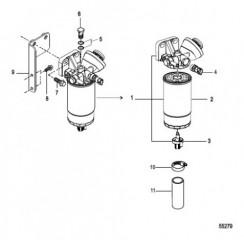Схема Топливный фильтр в сборе