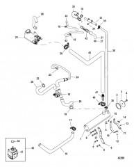 Схема Закрытая система охлаждения Система для пресной воды с усилителем рулевого механизма