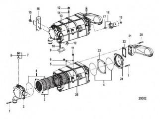Схема Воздухоохладитель